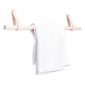 Håndklædeholder i naturfarve